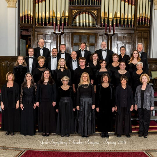The York Symphony Chamber Singers will give a concert Feb. 17 at Wrightsville Presbyterian Church.