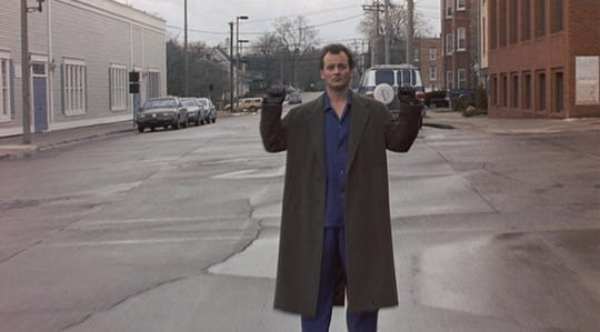 """Bill Murray stars in """"Groundhog Day,"""" playing Saturday at the Capitol Theatre."""