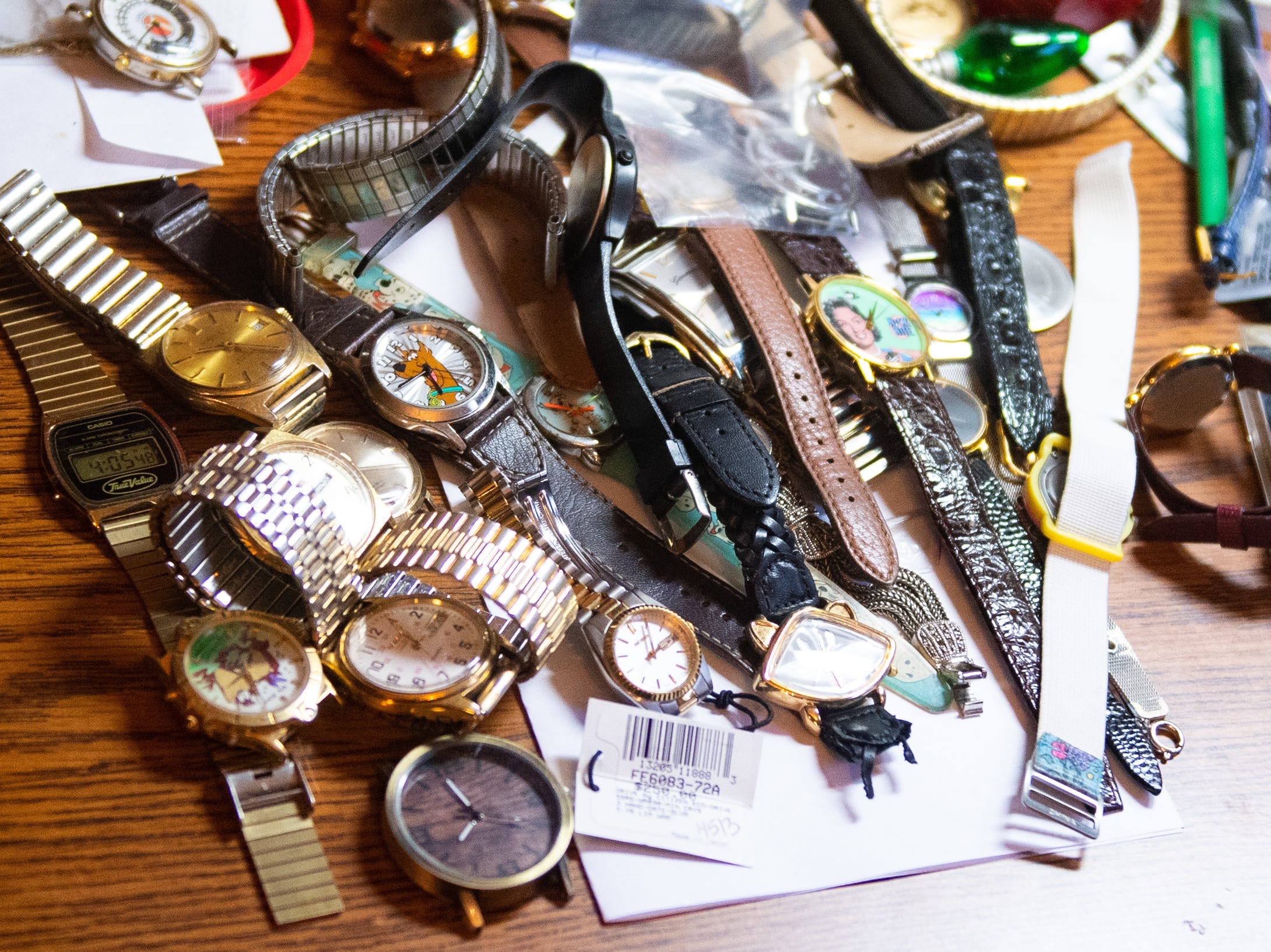 Ronald Botterbusch's daughter also works on watches. Her desk is full of things she's currently fixing, January 30, 2019.