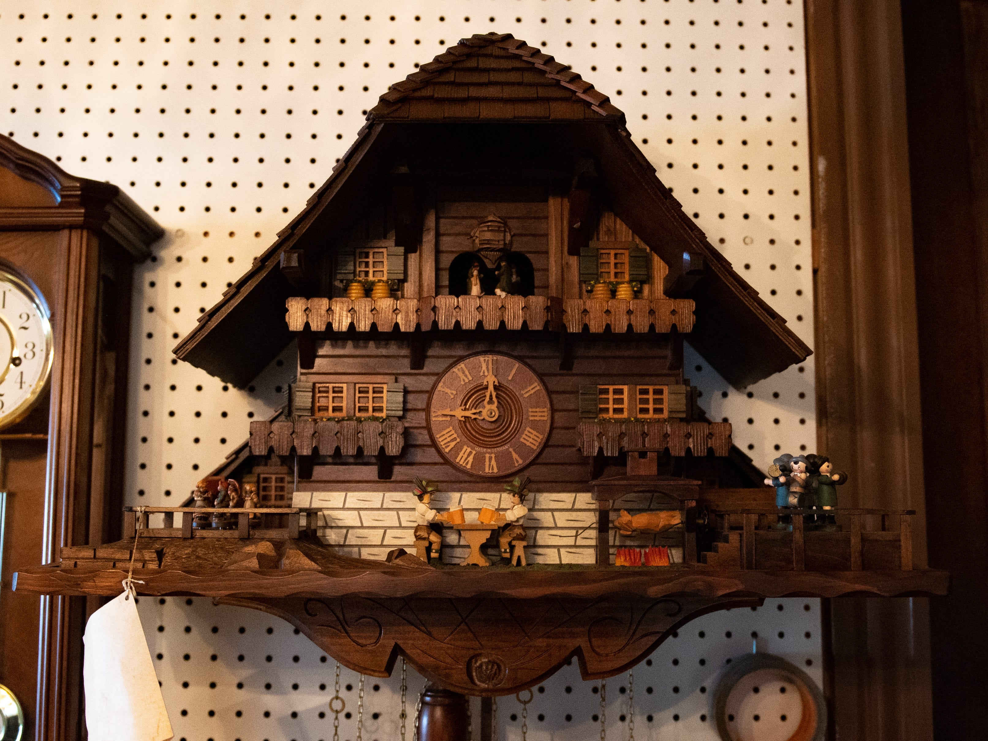 Big complicated clocks are also in the workshop area, January 30, 2019.