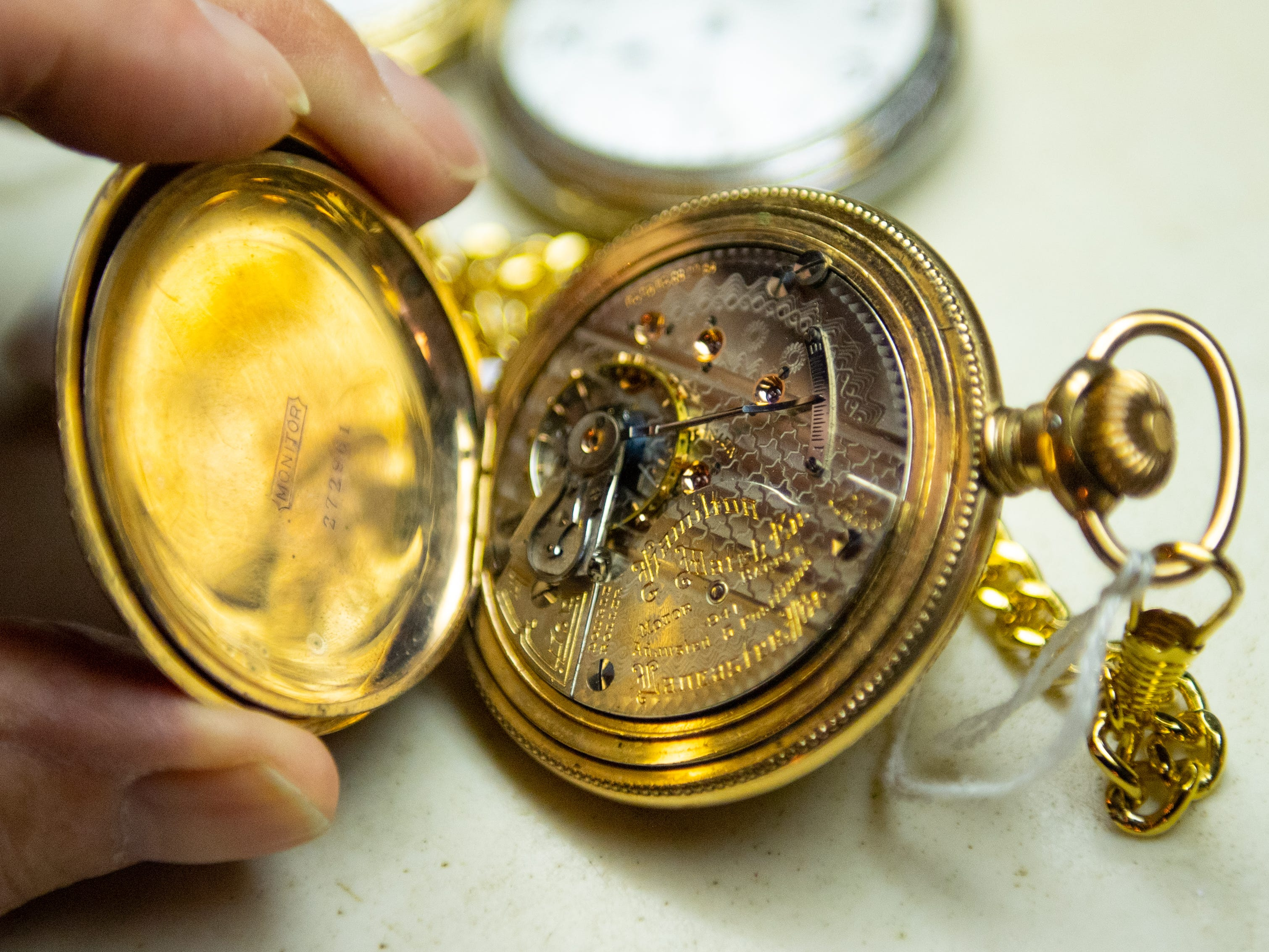 Ron Botterbusch, 85, keeps his personal watches in mint condition.