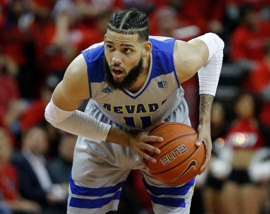 Nevada's Cody Martin plays against UNLV during the second half of an NCAA college basketball game Tuesday in Las Vegas. Nevada won 87-70.