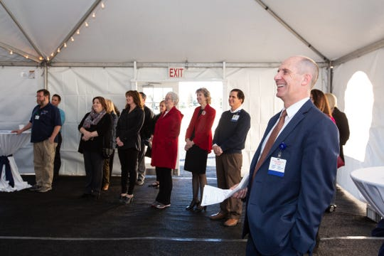 Northern Nevada Medical Center CEO at the groundbreaking of Reno's first freestanding ER on Jan. 31, 2019.