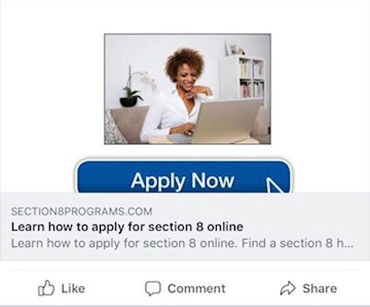 The Rochester Housing Authority warned residents of an advertisement scam about applying for Section 8, pictured here.