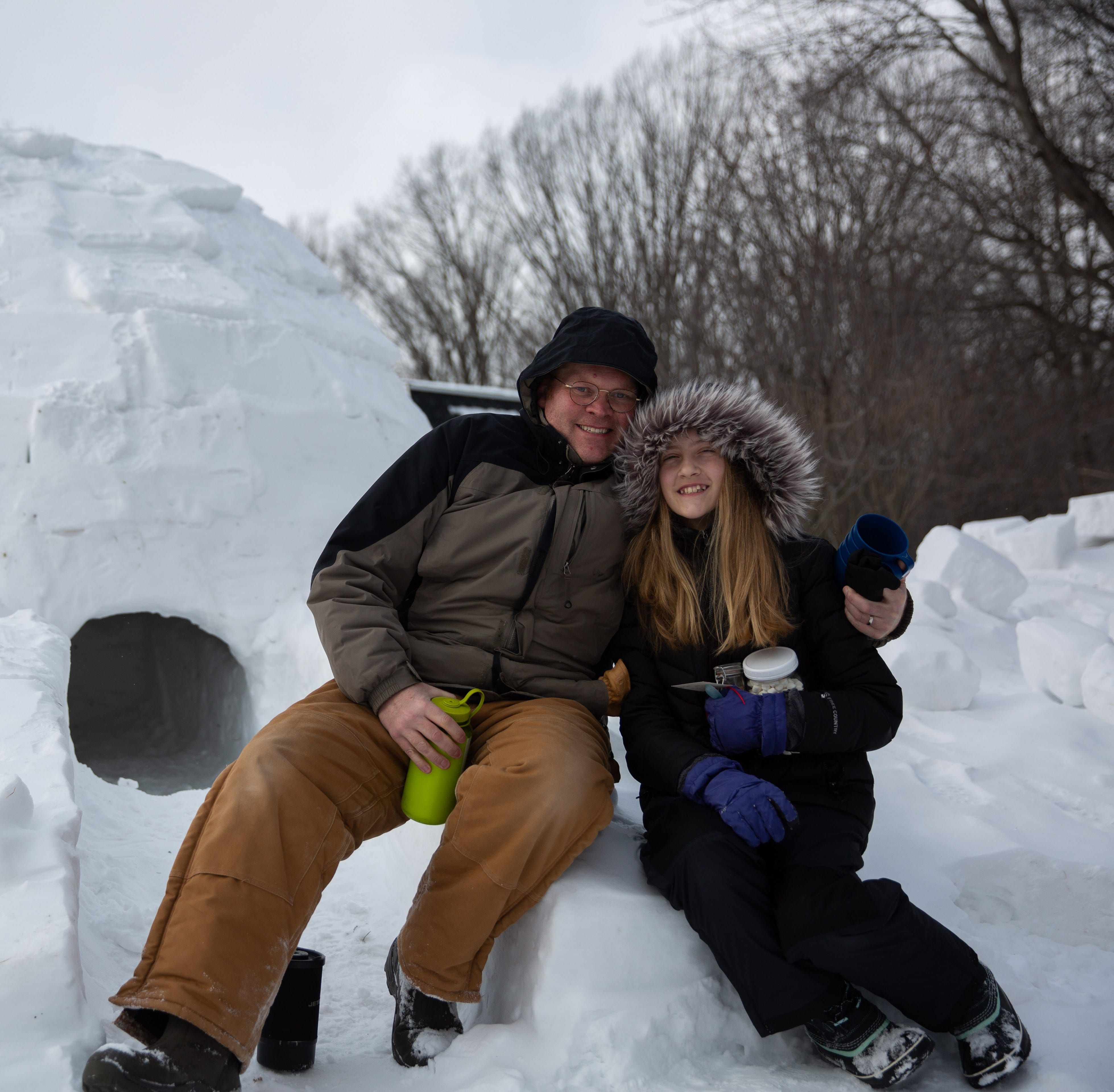 Snow day to the max: Penfield family builds huge igloo, plans to camp out in it overnight