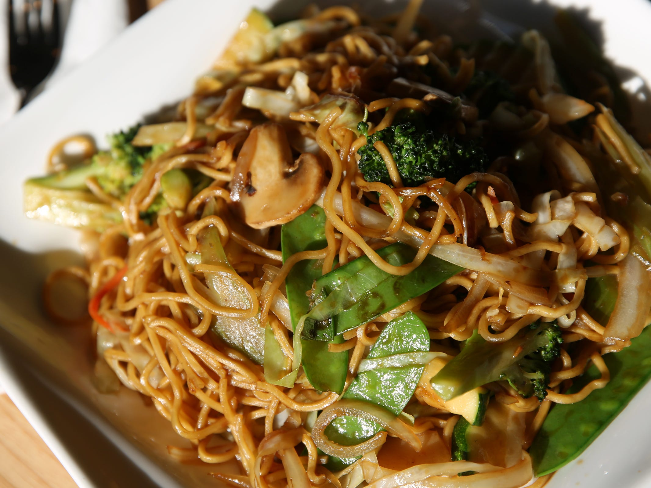 Vegetable lo mein at Chen's Family Dish in Salem on Thursday, Jan. 31, 2019.