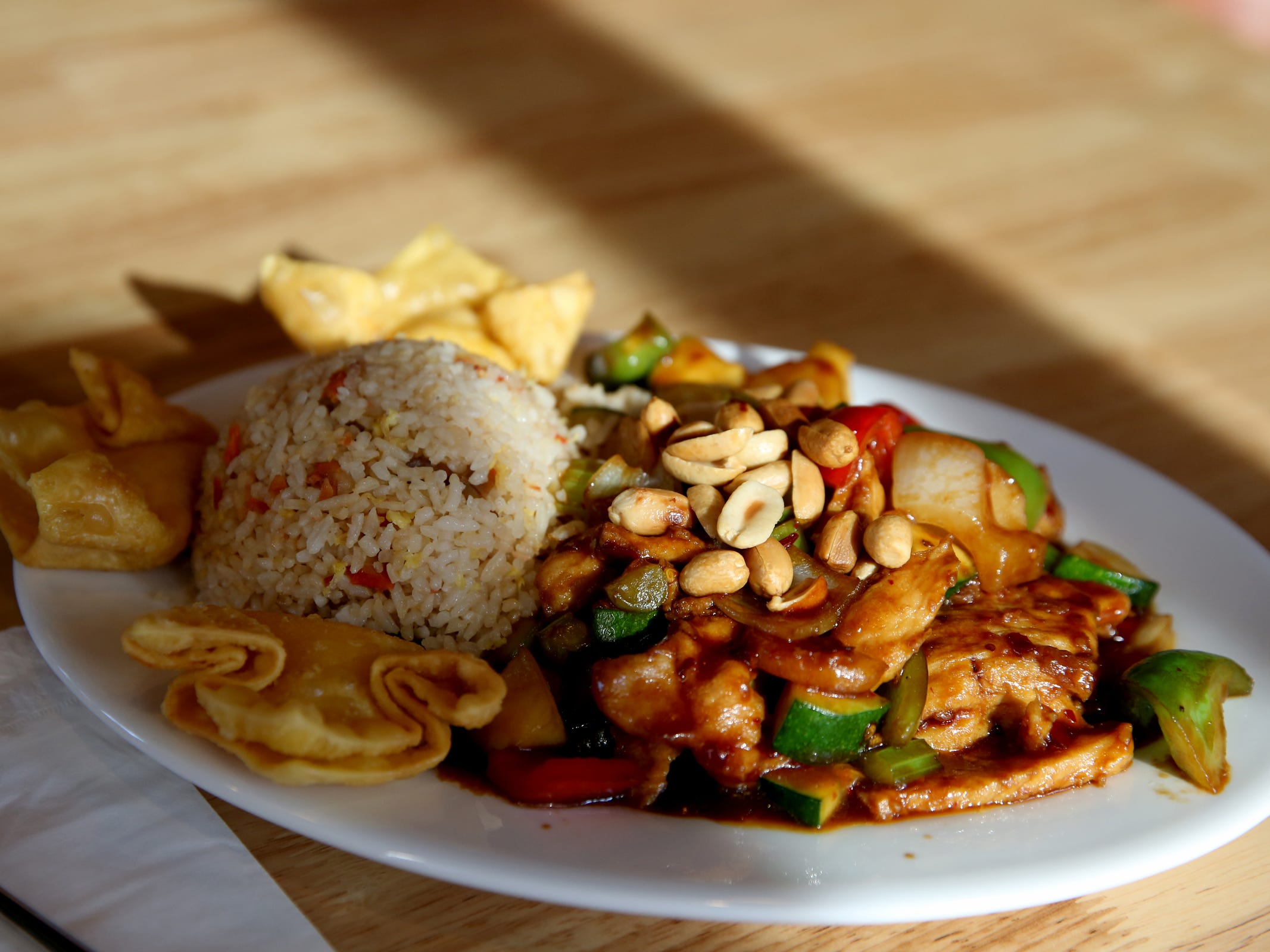 The Kung Pao chicken lunch combination at Chen's Family Dish in Salem on Thursday, Jan. 31, 2019.