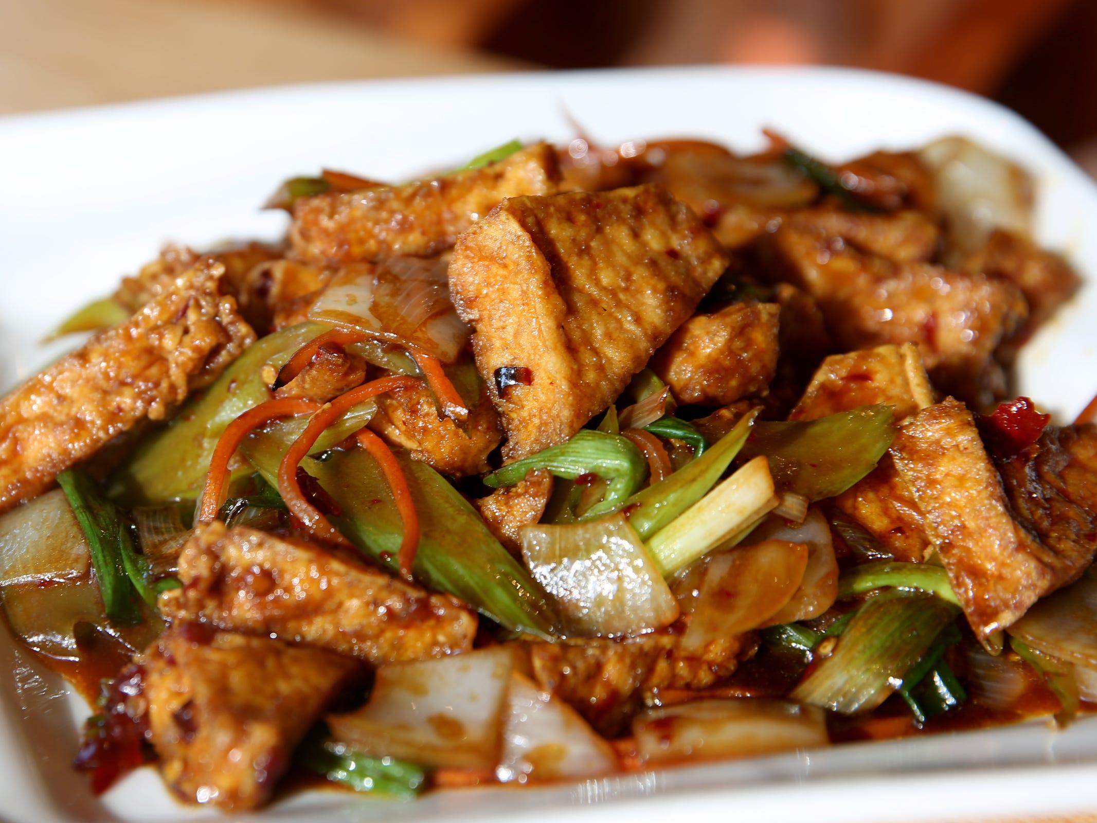 Szechuan style tofu at Chen's Family Dish in Salem on Thursday, Jan. 31, 2019.