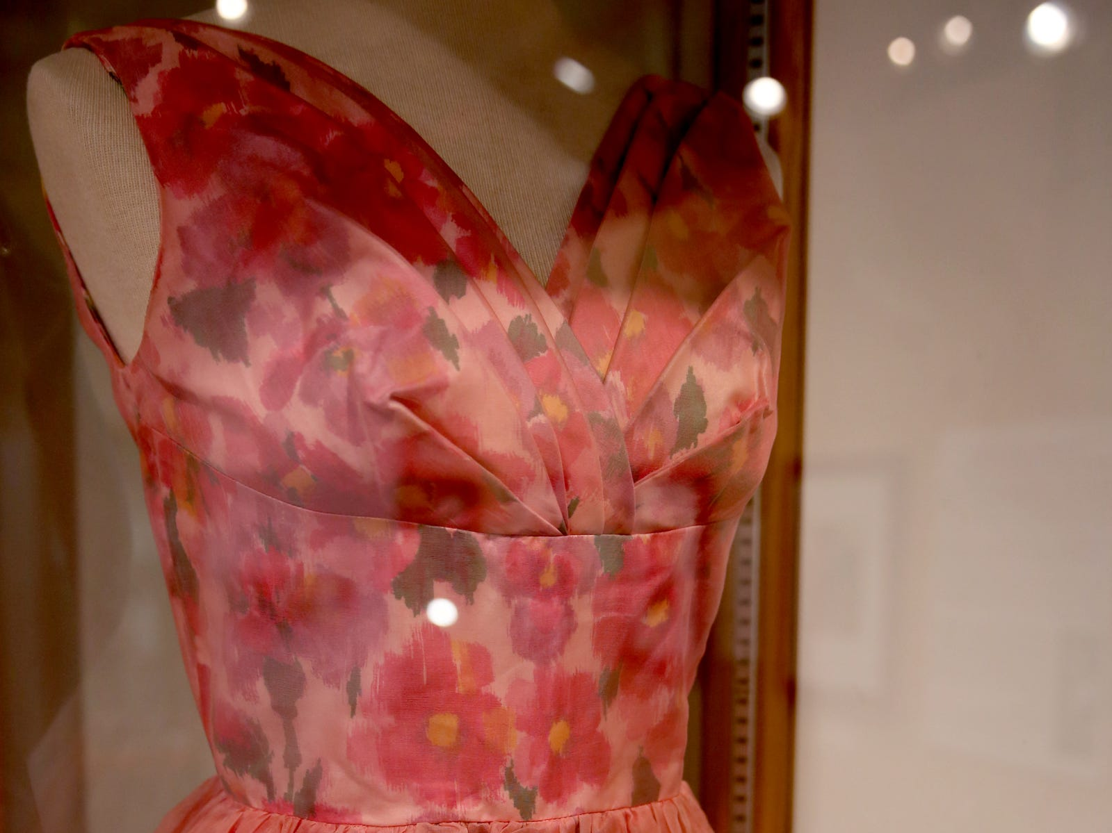 A dress worn to social dances, part of the Romance: Stories of Love and Passion in the Mid-Willamette Valley exhibit running through April 20 at the Willamette Heritage Center in Salem on Thursday, Jan. 31, 2019.