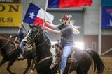 San Angelo Ambassadors practice their moves before the San Angelo Stock Show and Rodeo.