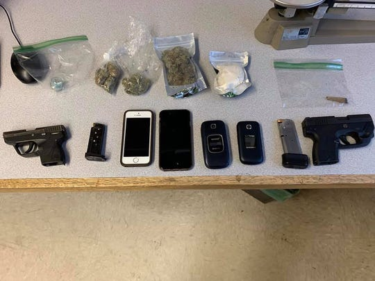 The seized items.