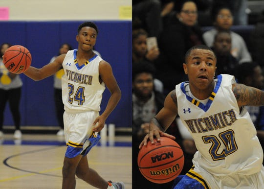 Jaden Baker (left) and Dorian Stevens have become a dynamic pair for the Wicomico boys basketball team this season.