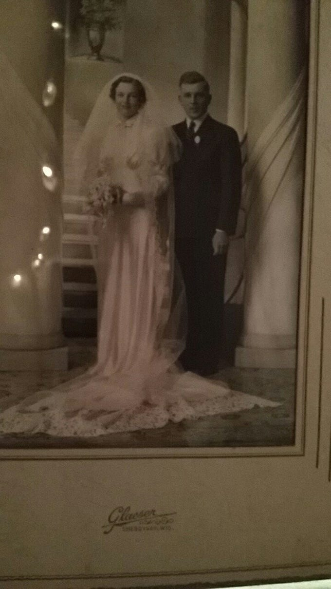 Gerhardt Kamman and Erna Hasche married in Sheboygan in the early 1900s.