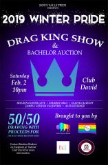 A poster for the 2019 Winter Pride drag king show