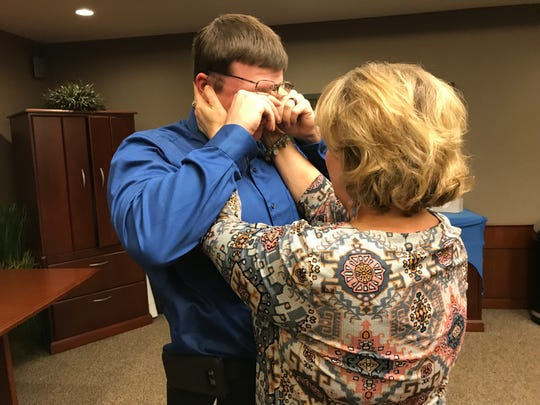 Connor Vortherms of Hartford was overwhelmed by emotion after receiving the Second Chance award from Siouxland Oral and Maxillofacial Surgery. Doctors here will fix his smile, after Vortherms lived through pain and self-awareness due to oral health problems.