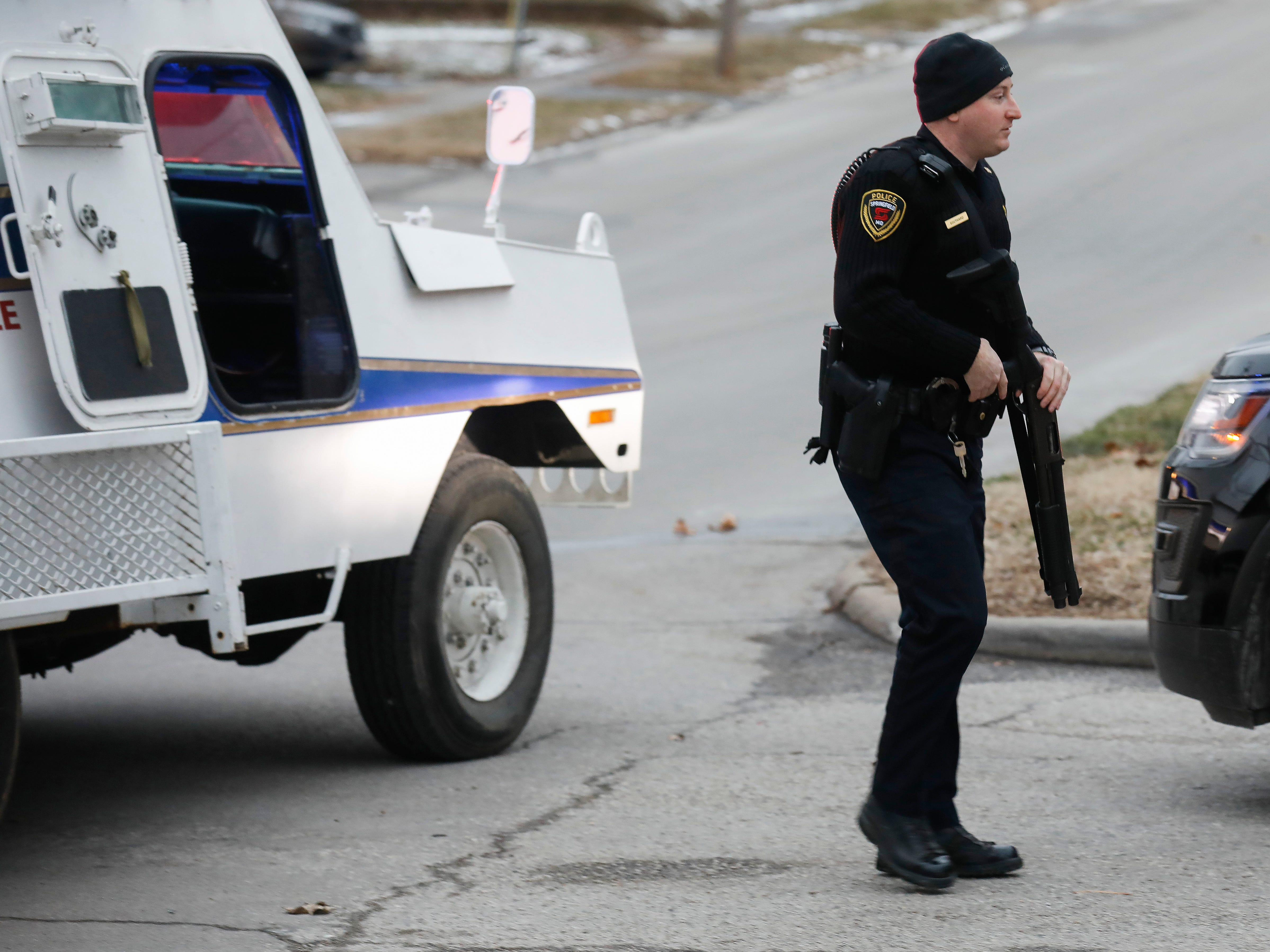 Police were involved in a standoff on the 1200 block of West Atlantic Street on Thursday, Jan. 31, 2019. The suspect surrendered without incident.