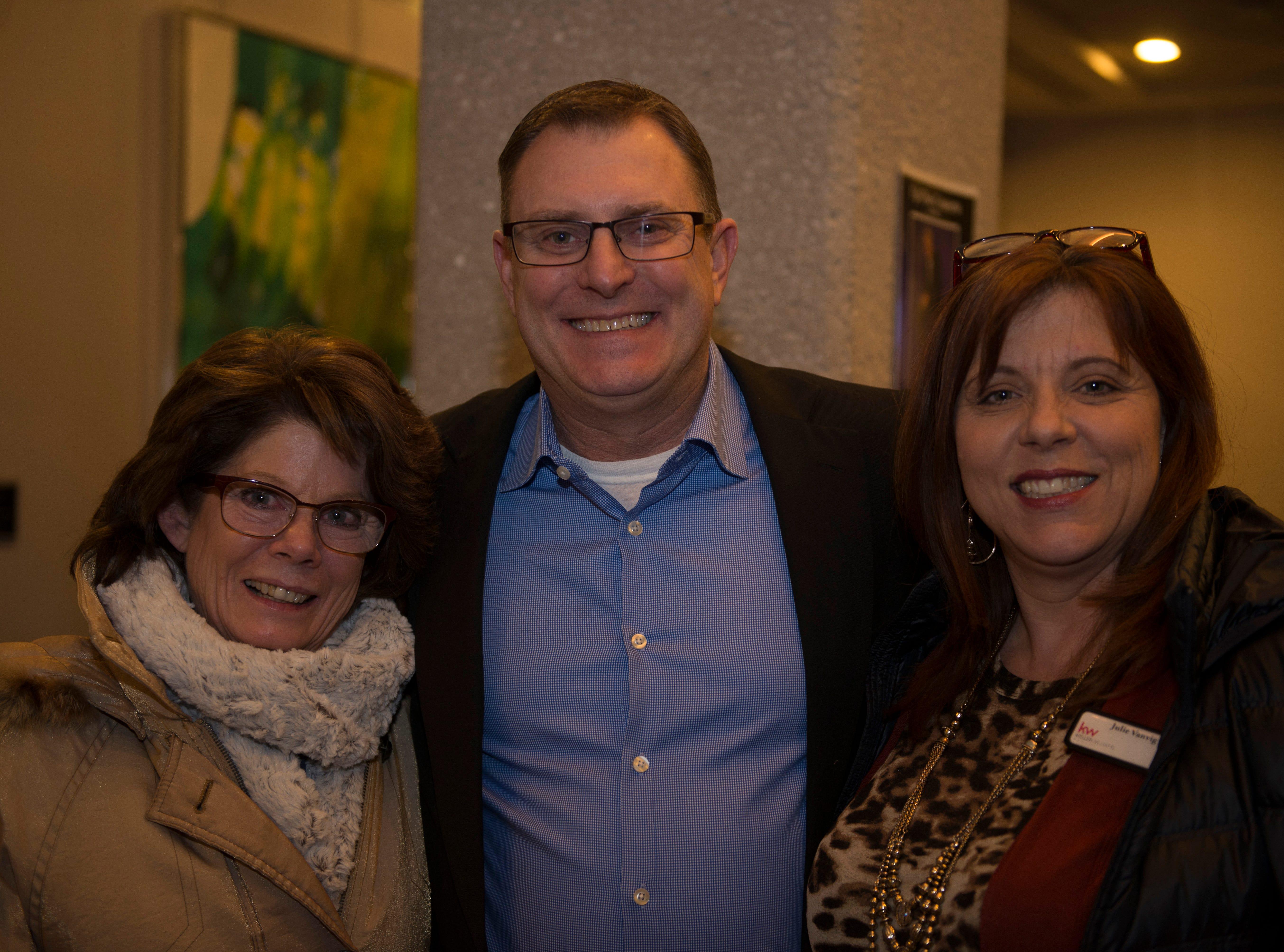 Julie and Mike Burnell, Stephanie Scott