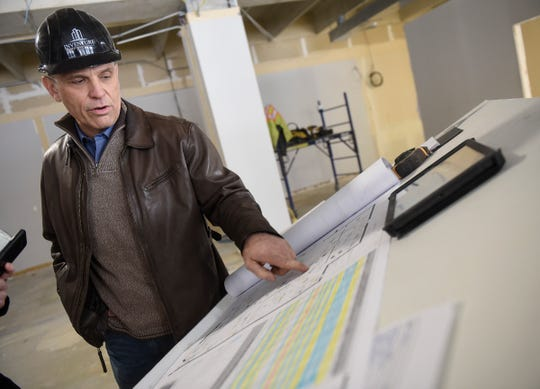 Inventure Properties CEO Douglas Boser talks about plans and features for the new St. Cloud Times offices Thursday, Jan. 31, at 24 Eighth Ave. S in St. Cloud.