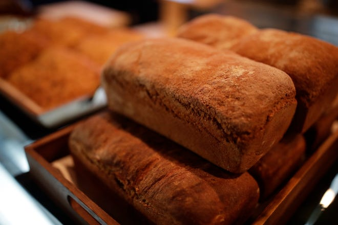 Whole wheat is one of Ten varieties of bread available at Hawthorn Bistro and Bakery.