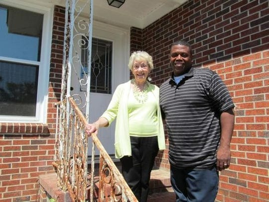 Cornelius Jones (right) purchased Jake Gaither's home in 2014. His goal was to restore as a museum with the help of former Gaither friends such as Niki Joyce.