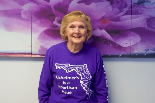 "Doris Sanders, 85, of Stuart, will be attending the Alzheimer's Association annual ""Rally in Tally"" advocacy event to raise concern and awareness for Alzheimer's disease and related dementias."