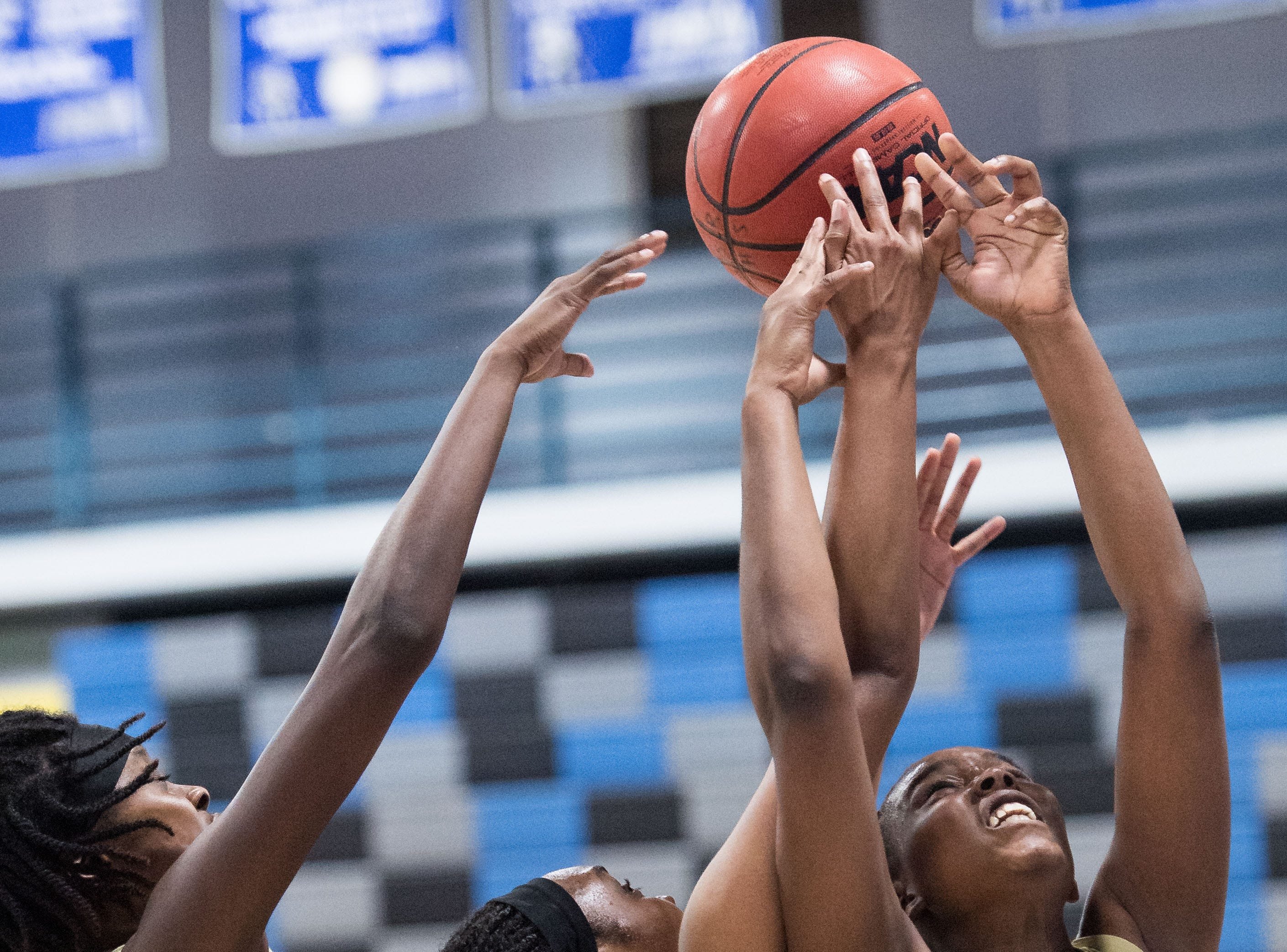 Treasure Coast plays against Sebastian River during the high school girls basketball game Wednesday, Jan. 30, 2019, at Sebastian River High School.
