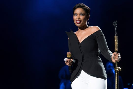 """In this April 19, 2017, file photo, Jennifer Hudson performs at the world premiere of """"Clive Davis: The Soundtrack of Our Lives"""" at Radio City Music Hall, during the 2017 Tribeca Film Festival in New York. In the wake of multiple allegations against R. Kelly, some performers are denouncing songs the R&B hit-maker created for them. Hudson removed two songs R. Kelly wrote for her from YouTube and Apple Music: the Grammy-nominated and """"It's Your World"""" and """"Where You At,"""" a Top 10 R&B hit."""