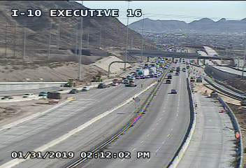 Traffic is being diverted off I-10 at Executive Drive because of a serious accident on I-10 and Sunland Park.