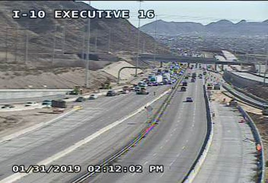 West El Paso traffic accident diverting traffic off I-10