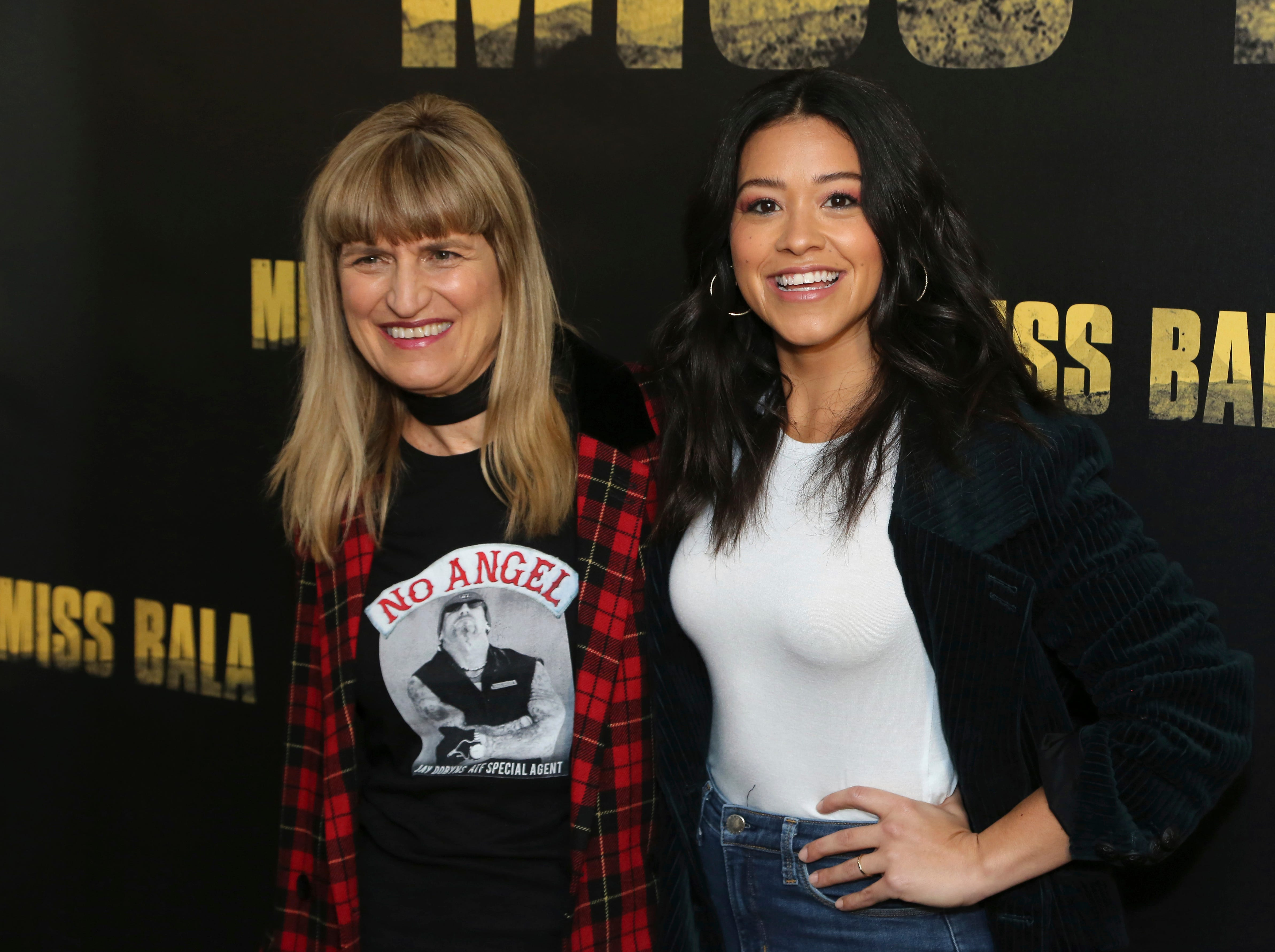 """Director Catherine Hardwicke, left, and Gina Rodriguez pose for a photo at the """"Miss Bala"""" Photo Call at The London West Hollywood on Sunday, Jan. 13, 2019 in West Hollywood, Calif."""