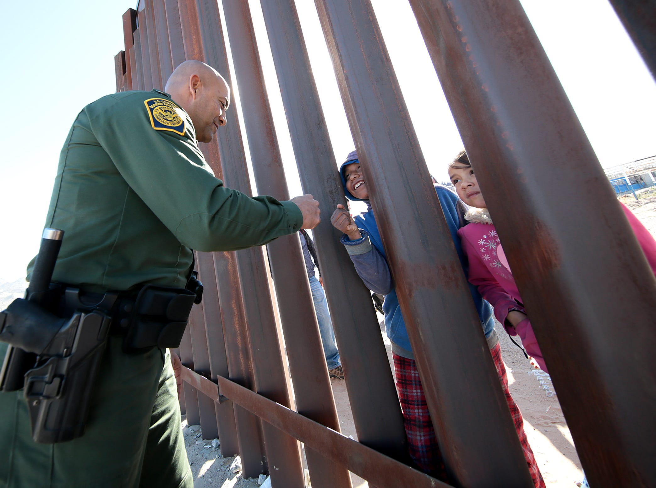 The U.S. Border Patrol along with ICE trained recently along the border fence in Anapra, N.M. The training is preparation for any border surge that might occur.