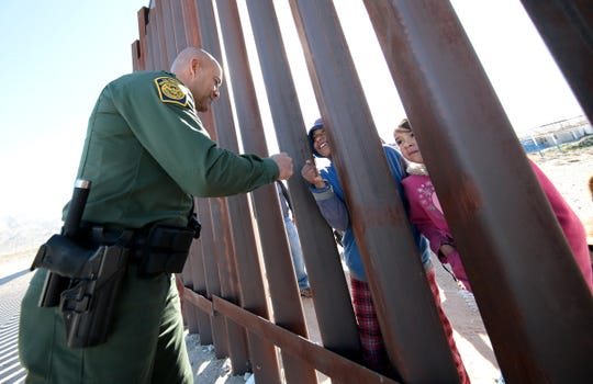 The U.S. Border Patrol along with ICE trained along the border fence in Anapra. The training is preparation for any border surge that may occur.