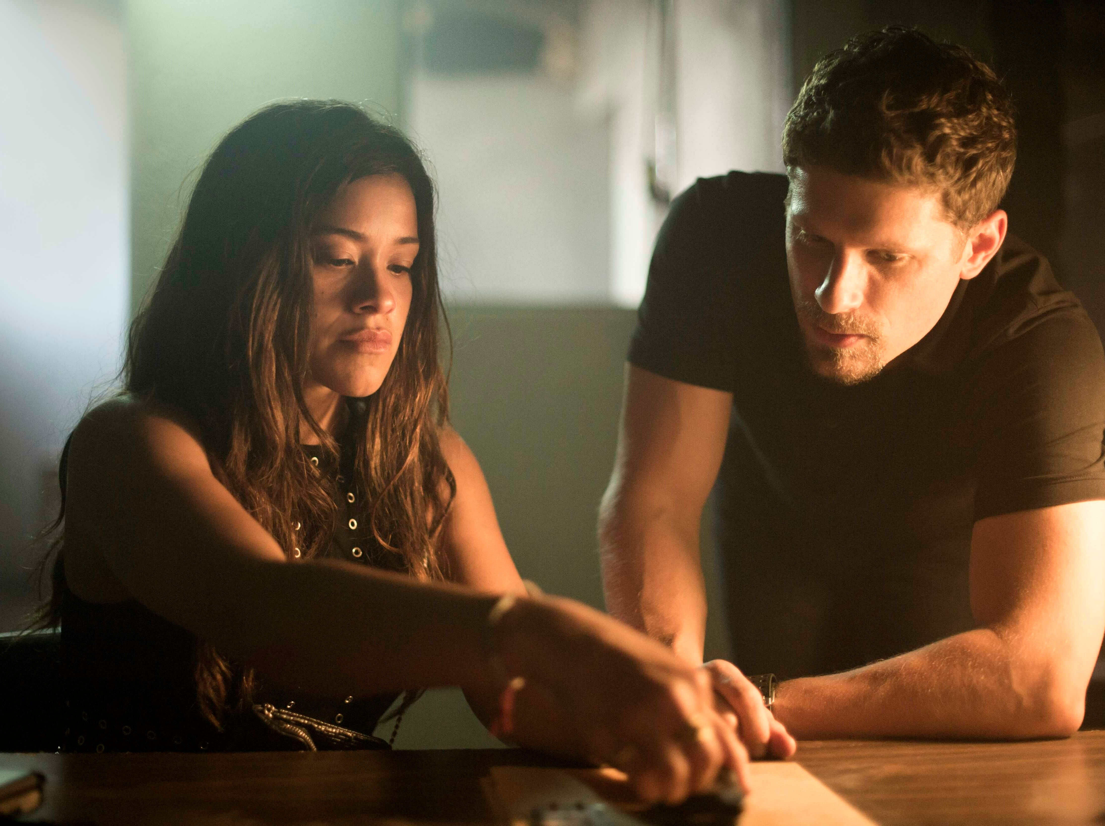 """This image released by Sony Pictures shows Gina Rodriguez, left, and Matt Lauria in a scene from """"Miss Bala."""""""