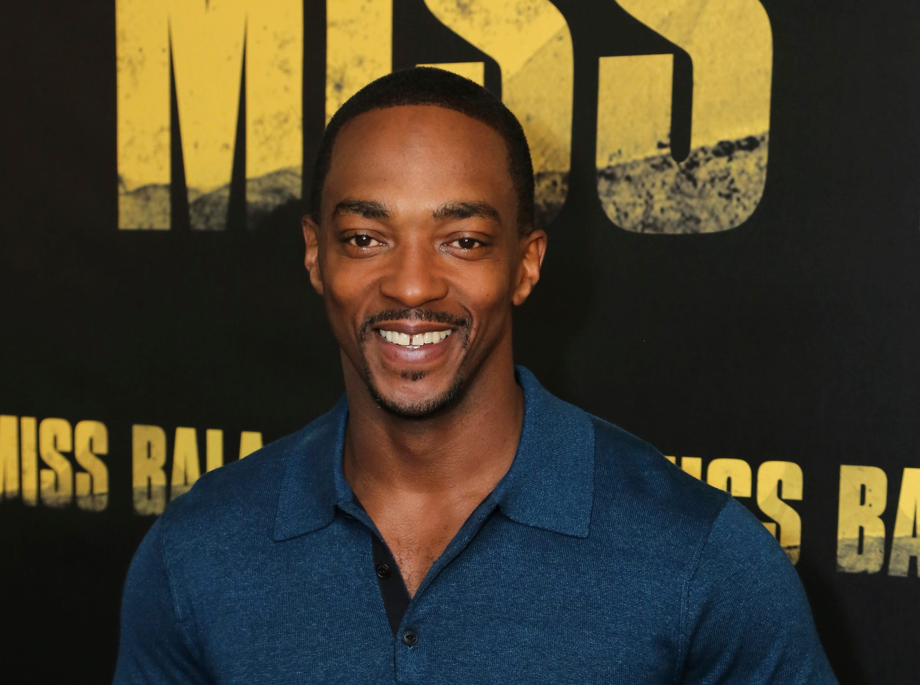 """Anthony Mackie poses for a photo at the """"Miss Bala"""" Photo Call at The London West Hollywood on Sunday, Jan. 13, 2019 in West Hollywood, Calif."""