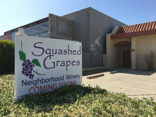 The owners of Squashed Grapes this week received approval to turn the building at 4746 Market St. in Ventura into their new working winery and tasting room. They also are planning to open a jazz club called The Grape at a separate location.