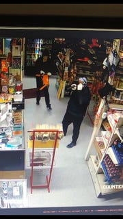 Three  masked men walked into an Ivanhoe grocery store and demanded money. Deputies are asking for the public's help to track the bandits down.