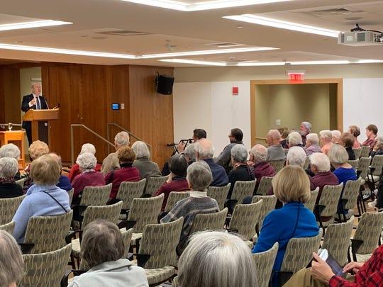 Pace President Marvin Krislov addresses residents at Kendall on Hudson