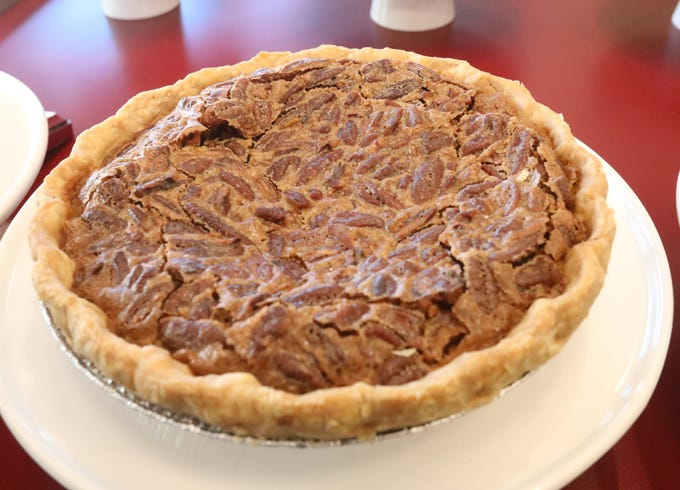 Pecan pie is one of the many pies on the menu at Pie Lady & Son on Main Street in Nyack Jan. 31, 2019.