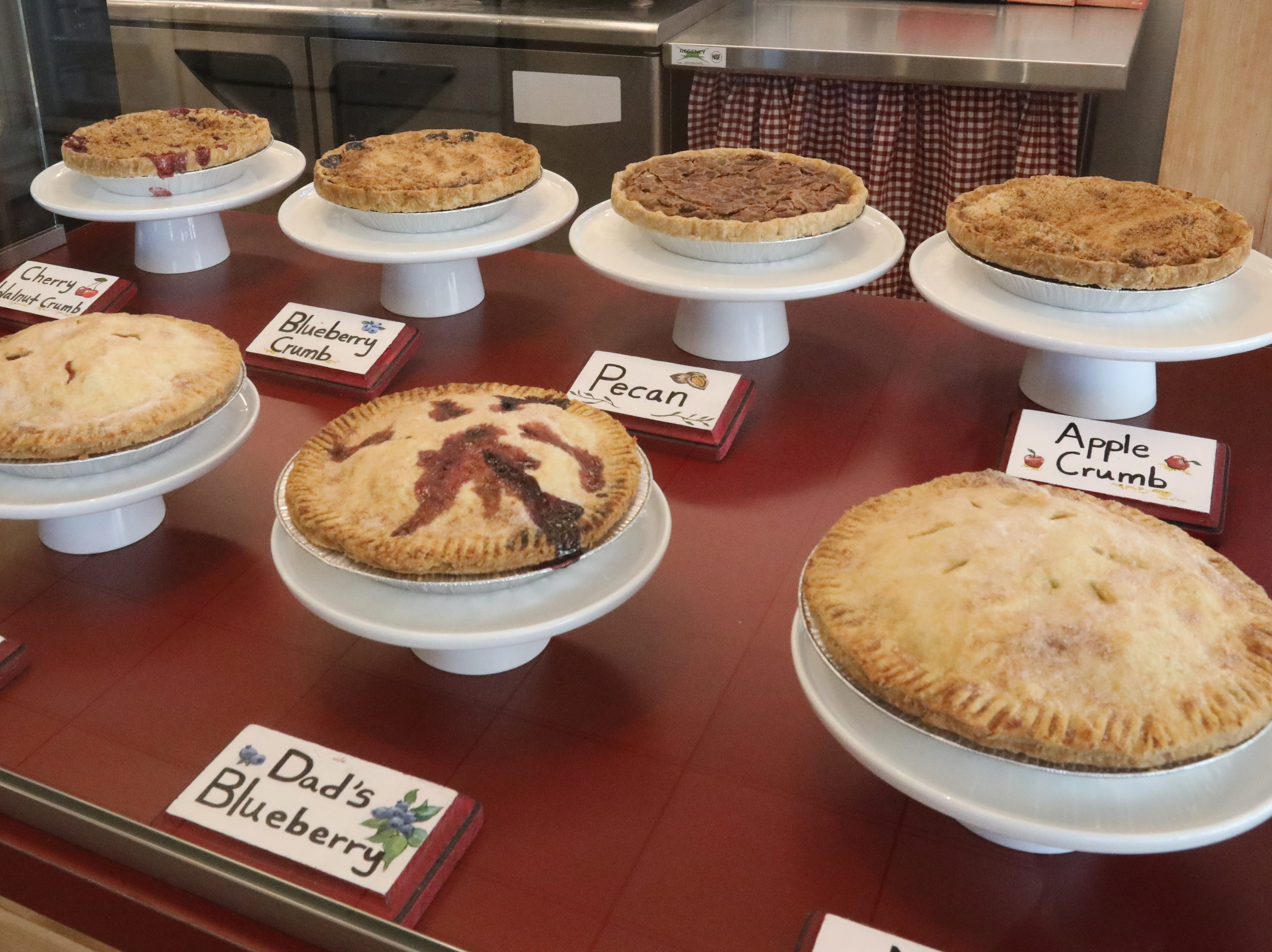 There are a variety of pies on the menu at Pie Lady & Son on Main Street in Nyack Jan. 31, 2019.
