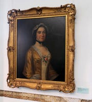 A portrait of Mary Philipse hangs in one of the rooms at Philipse Manor Hall in Yonkers.