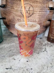 A Dunkin' Donuts iced coffee; a favorite order of Westchester resident Courtney Lane, one of the many lohud readers who posted their comments on Facebook.