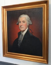 "Journalist Mary Calvi has written a new book, called ""Dear George, Dear Mary: A Novel of George Washington's First Love"". Here a painting of George Washington is pictured at Philipse Manor Hall in Yonkers, Jan. 31, 2019."