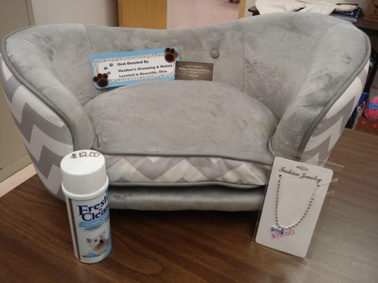 This pet sofa bed donated by Heather's Grooming will be available during the Chair-ity Auction taking place Feb. 7-9, at Colony Square Mall.