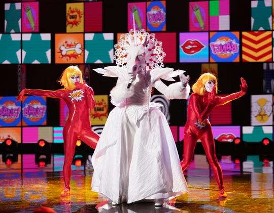 "THE MASKED SINGER: Unicorn in the ""Mix and Masks"" episode of THE MASKED SINGER airing Wednesday, Jan. 30 (9:00-10:00 PM ET/PT) on FOX. © 2019 FOX Broadcasting. CR: Michael Becker / FOX."