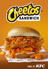 KFC is testing a new Cheetos Sandwich in select restaurants in North Carolina, Virginia and Georgia.