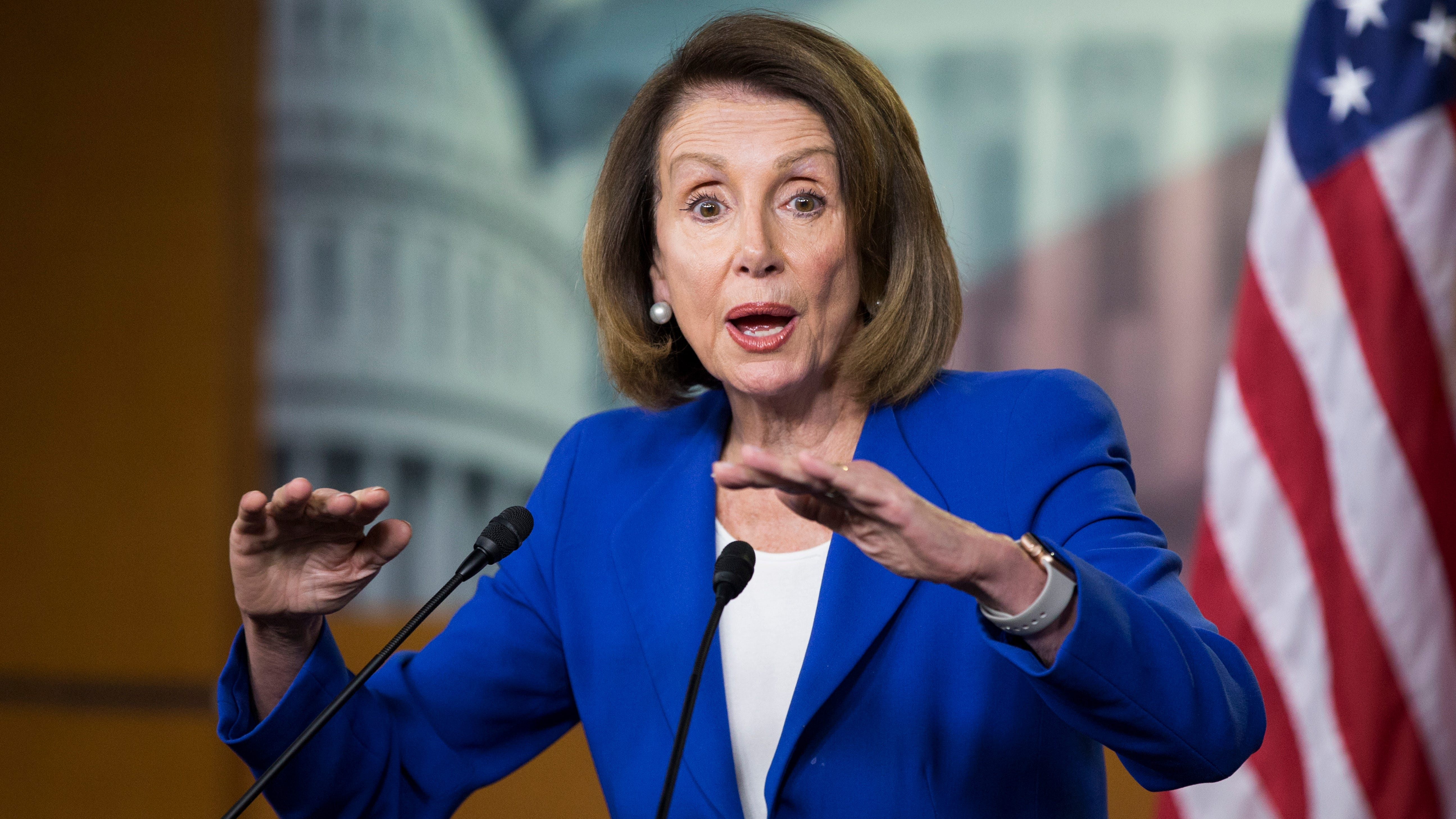 House Speaker Nancy Pelosi holds a news conference on Capitol Hill in Washington, Jan. 31, 2019.