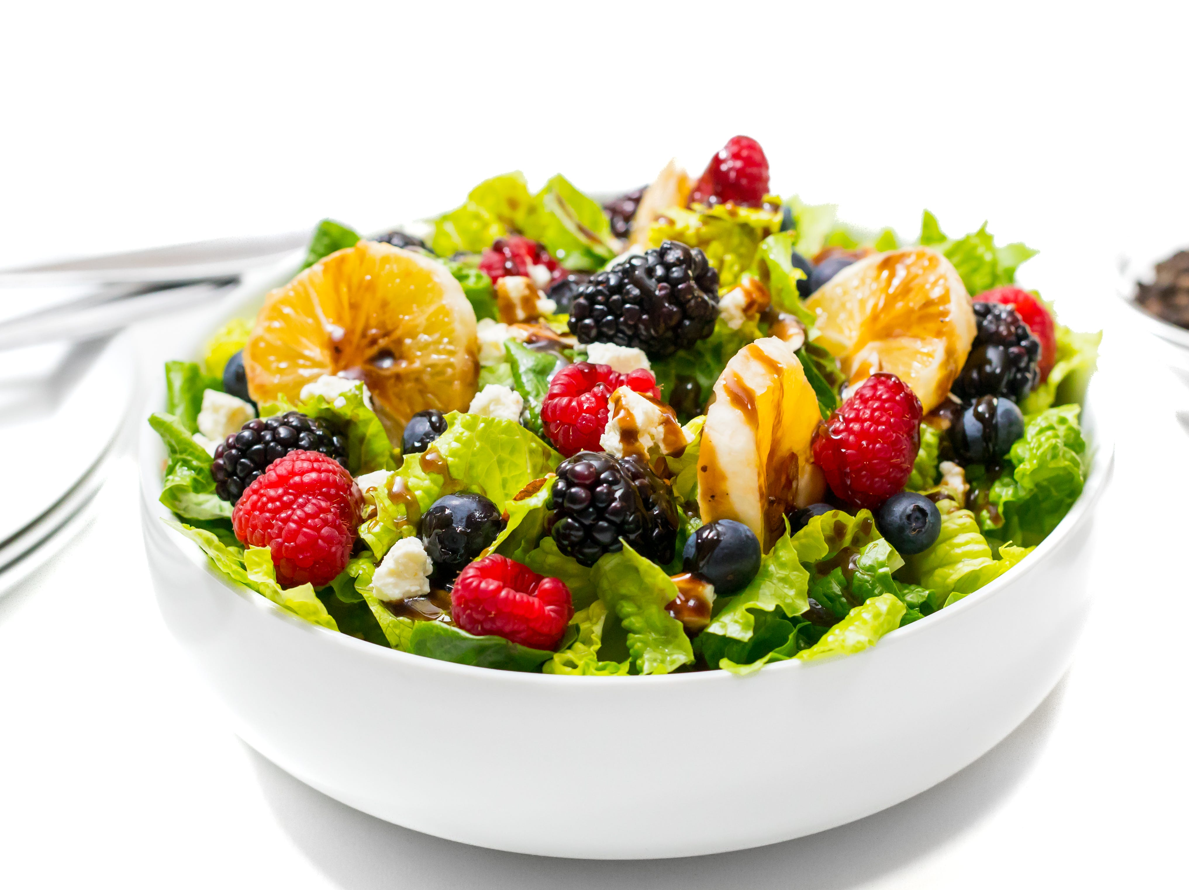 Citrus, berry and feta cheese salad