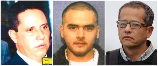"This photo combination shows three former associates of Mexican drug lord Joaquin ""El Chapo"" Guzman who cooperated with the Brooklyn U.S. Attorney's Office in Guzman's prosecution. From left are Tirso Martinez Sanchez, Pedro Flores and Jorge Milton Cifuentes Villa. (U.S Attorney for the Eastern District of New York, U.S. Marshals Service, Ariana Cubillos"