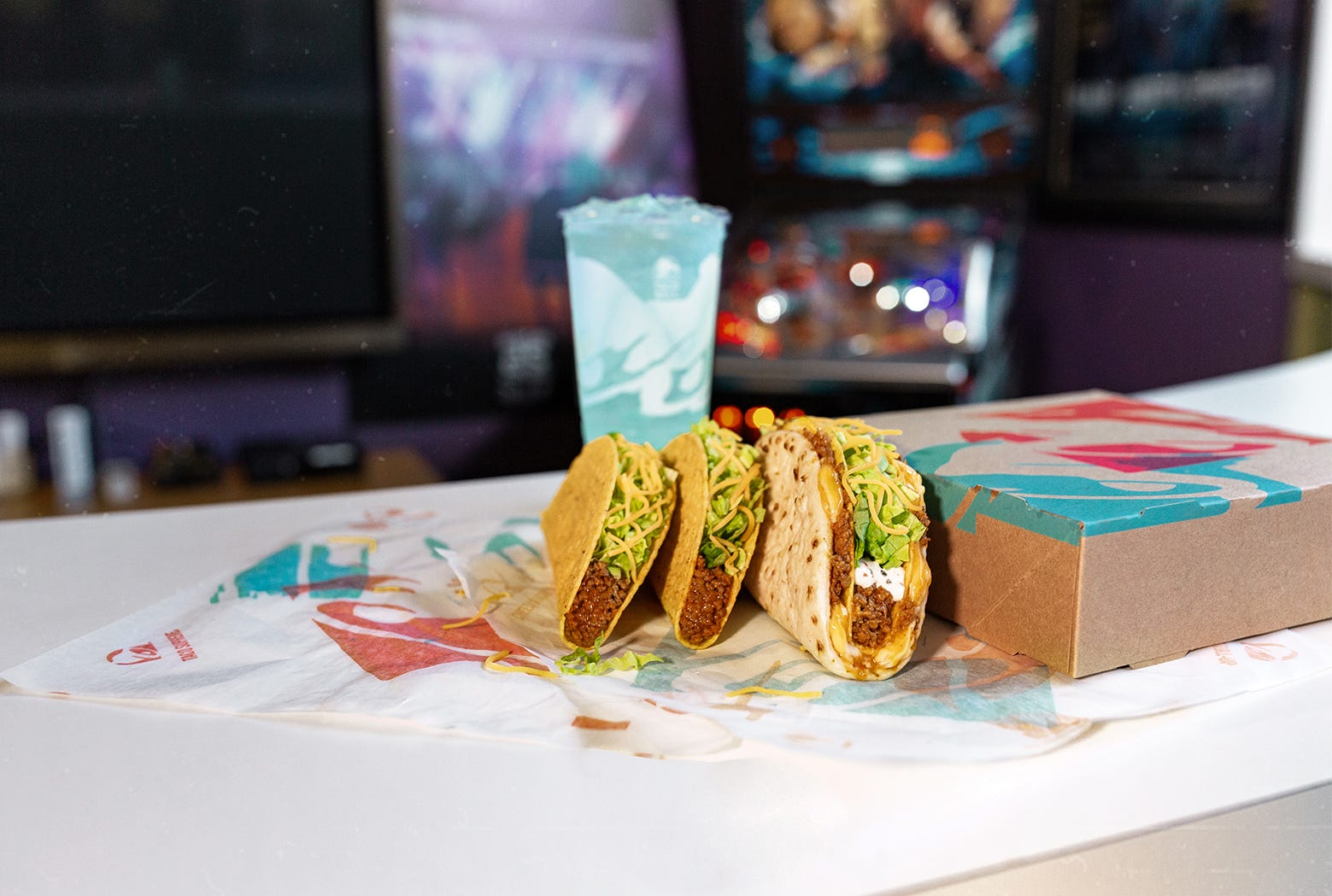 picture relating to Taco Bell Printable Menu named Taco Bell screening 2 menu products and solutions like a Double Tacky