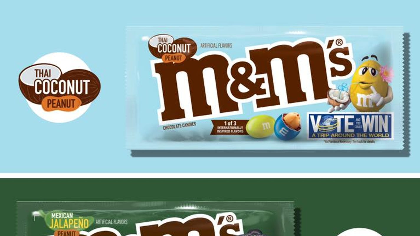 M&M's 3 new peanut-based flavors are here: Toffee, jalapeno, coconut